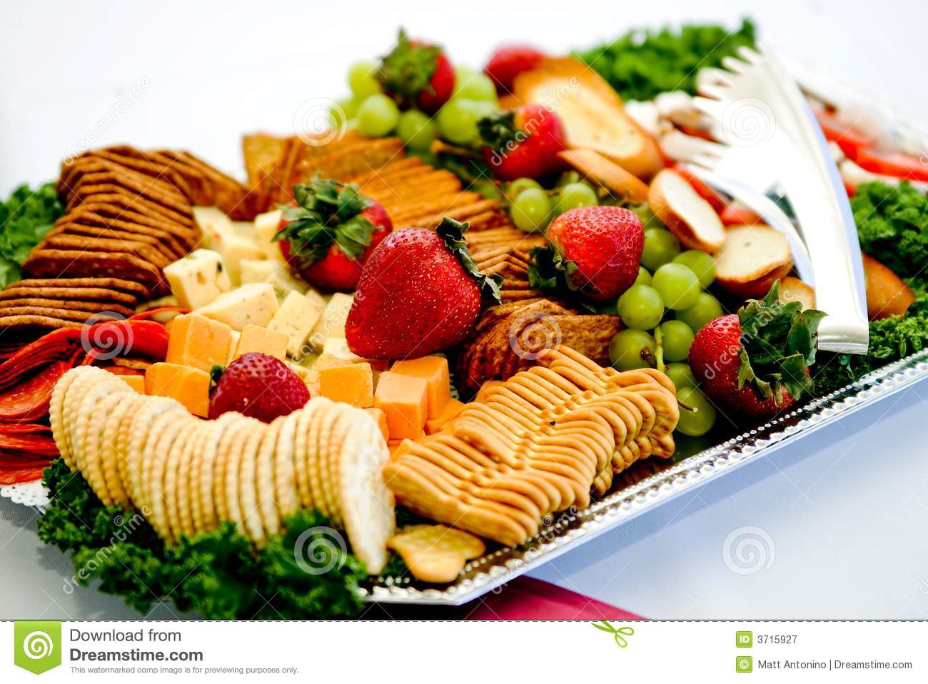 Fancy appetizer platter stock image. Image of cracker ...
