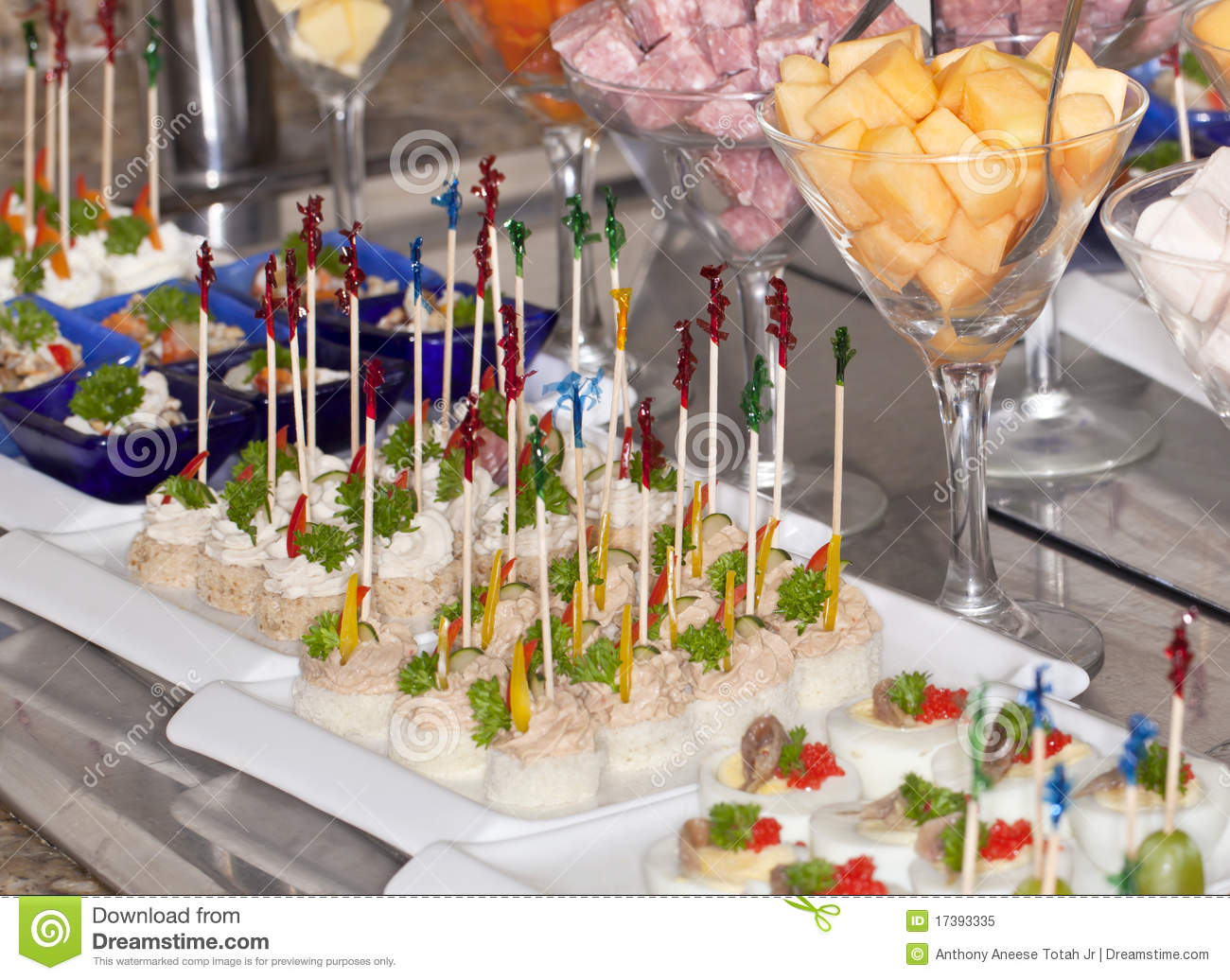 fancy appetizers and horderves stock image image 17393335