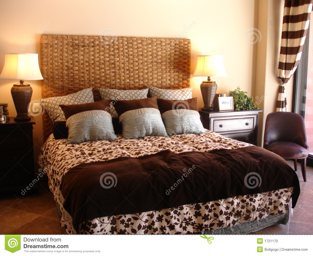 Fancy Bedroom Stock Photo
