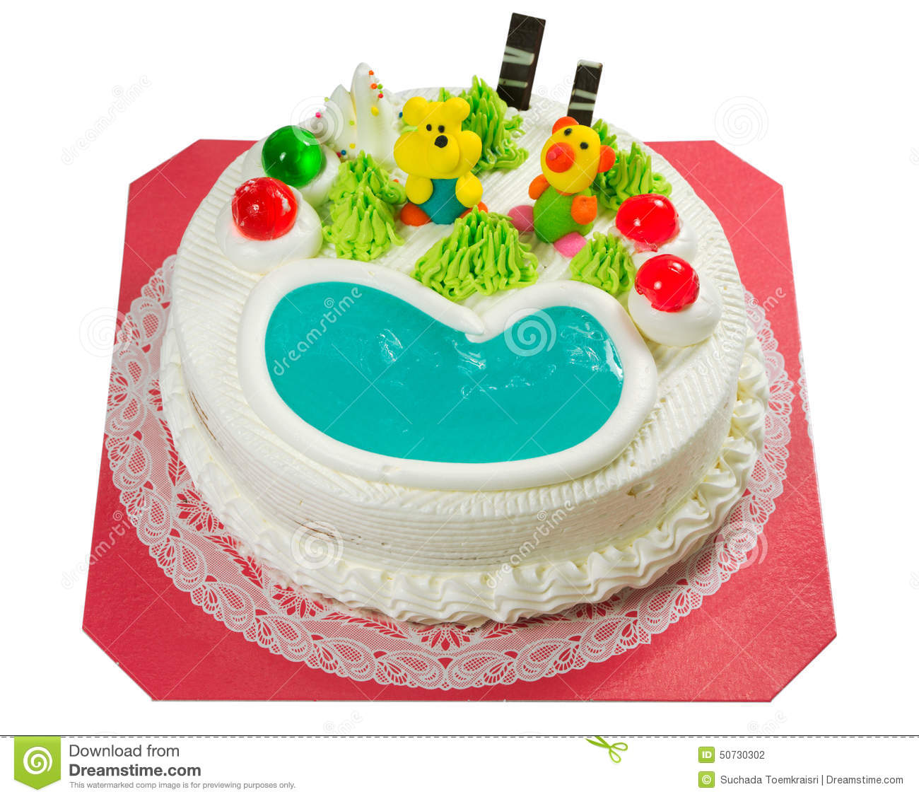 Fancy Cake With Sugar Cartoon Stock Illustration Image