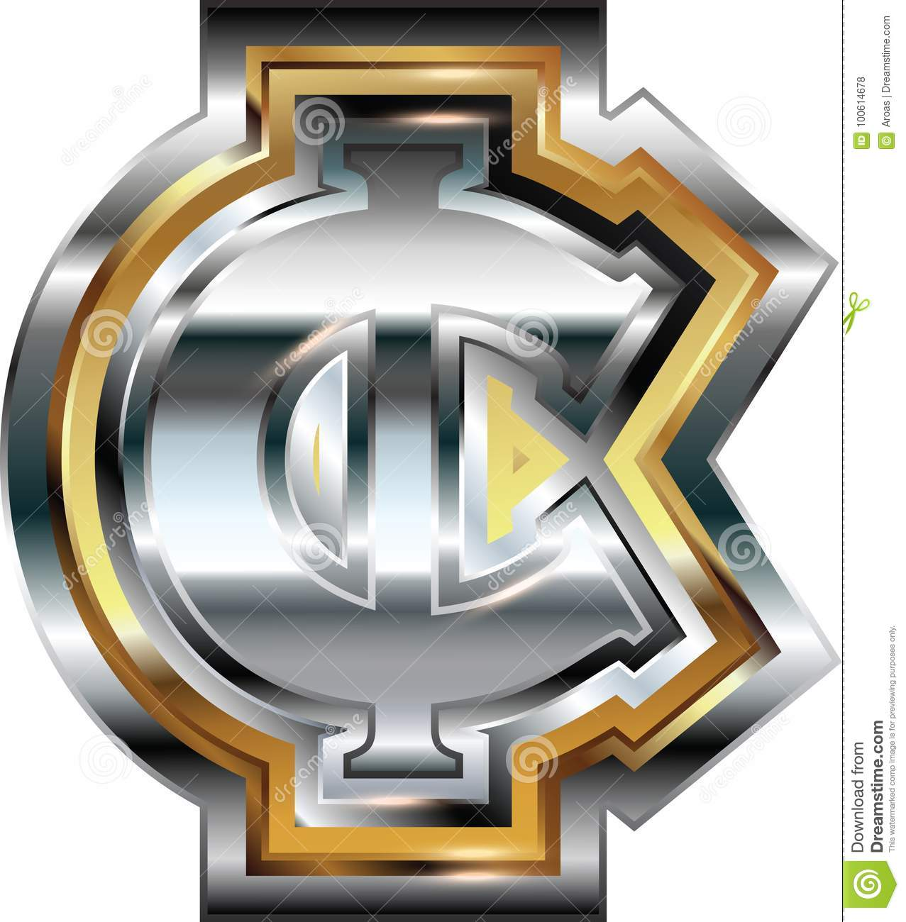 Fancy Cent Symbol Stock Vector Illustration Of Currency 100614678