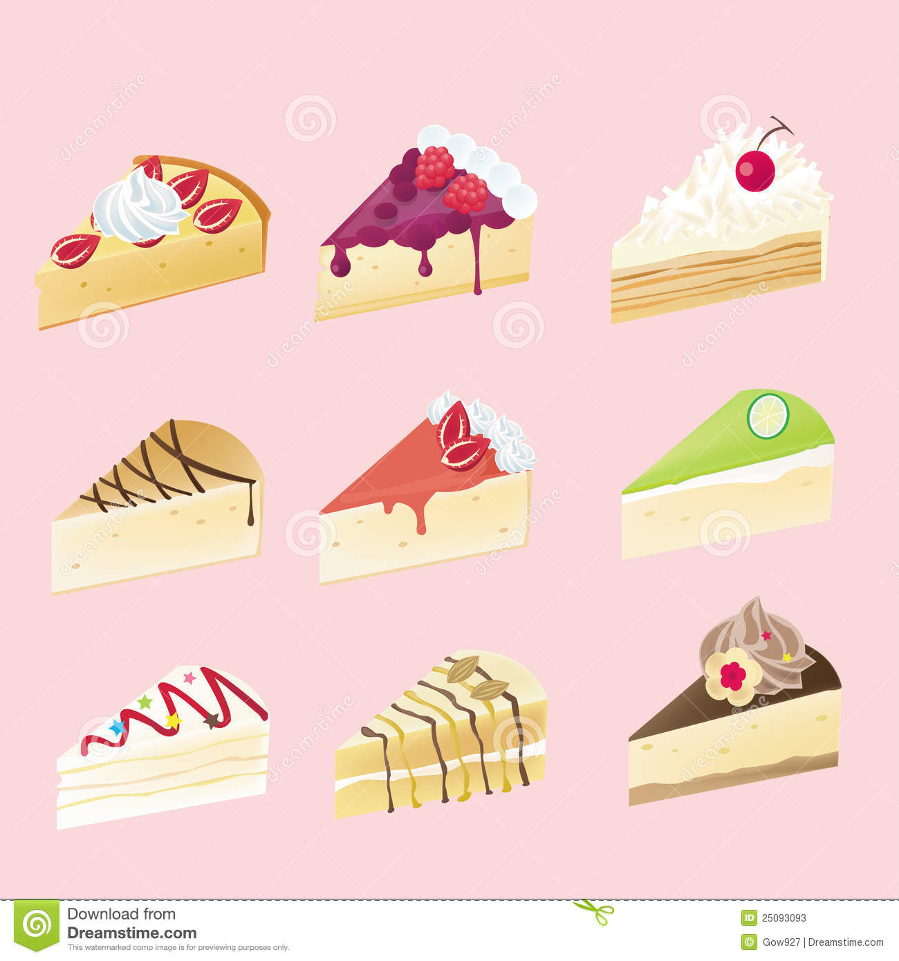 white chocolate raspberry cheesecake clip art