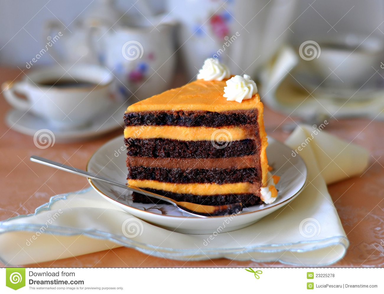 Fancy Chocolate Cake Images : Fancy Chocolate & Orange Cake Royalty Free Stock Photos ...