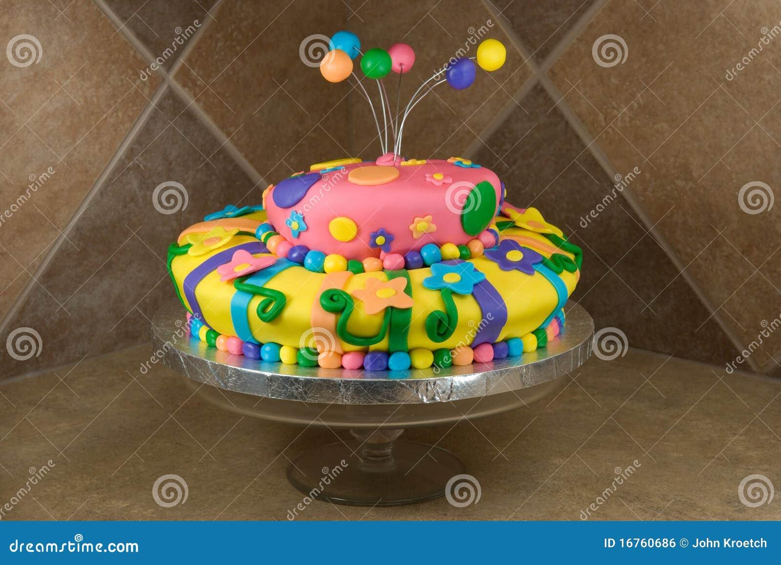 Decorated Birthday Cakes Fancy Decorated Birthday Cake Royalty Free Stock Photo Image