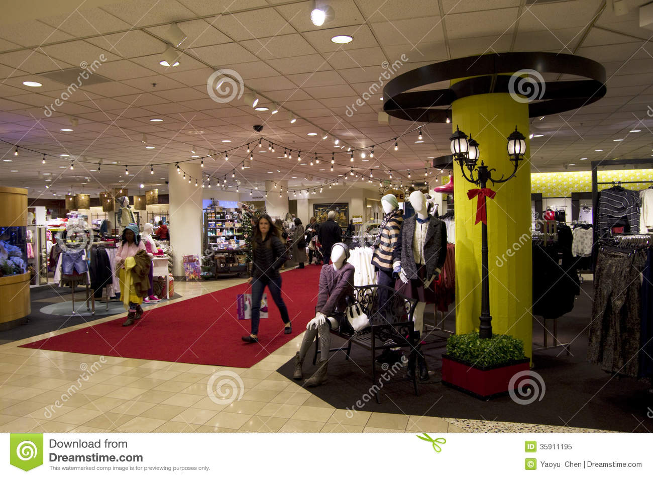 Retail clothing store interior design