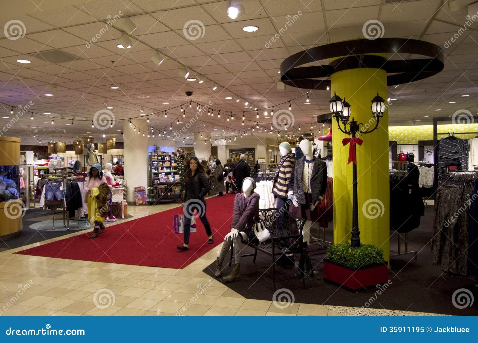 Fancy department store lighting interiors shop Editorial Image