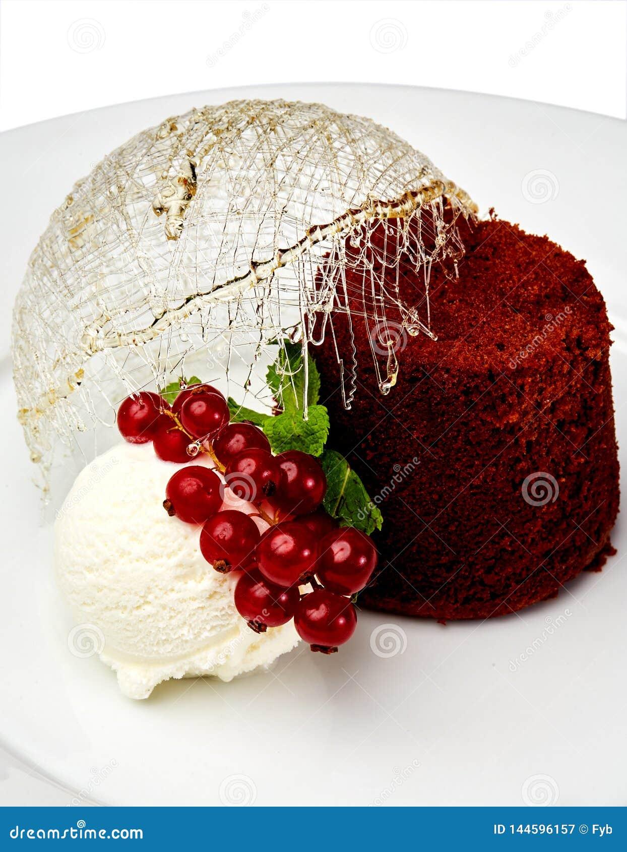 Fancy dessert isolatad on white