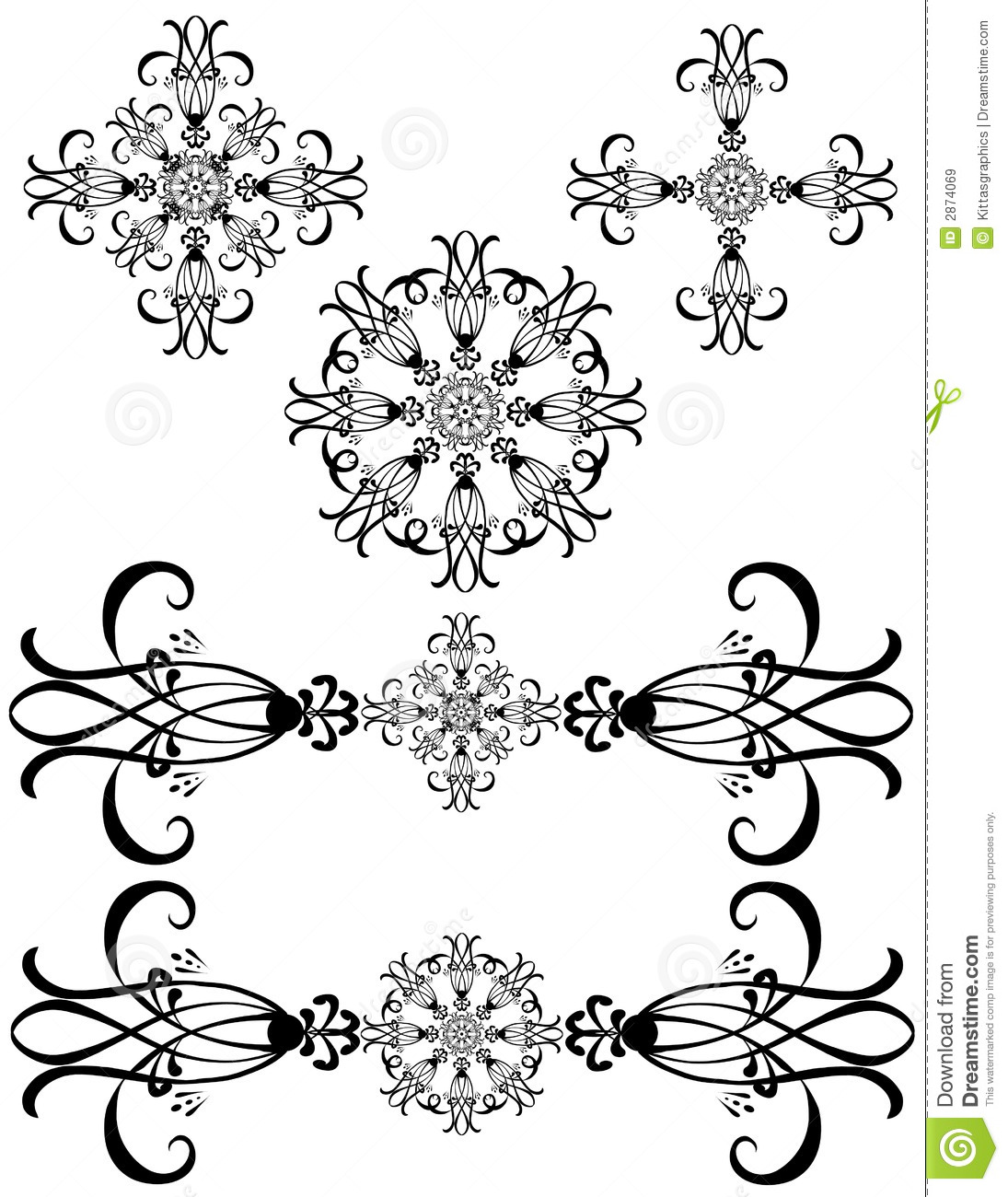 Fancy detailed decorations art stock vector image 2874069 for Drawing decoration ideas