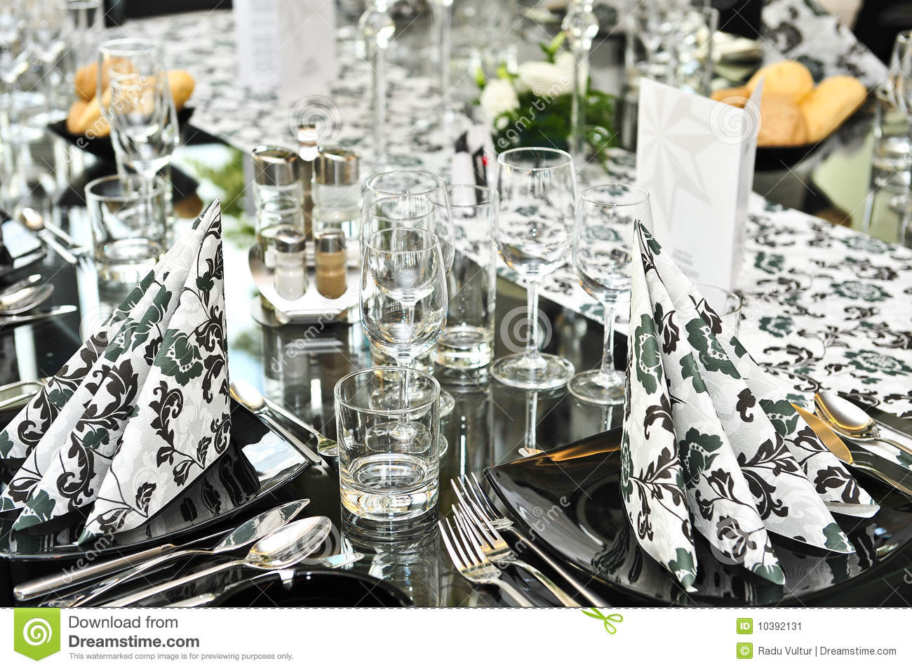 Fancy Dinner Table Set Stock Image Image Of Cater