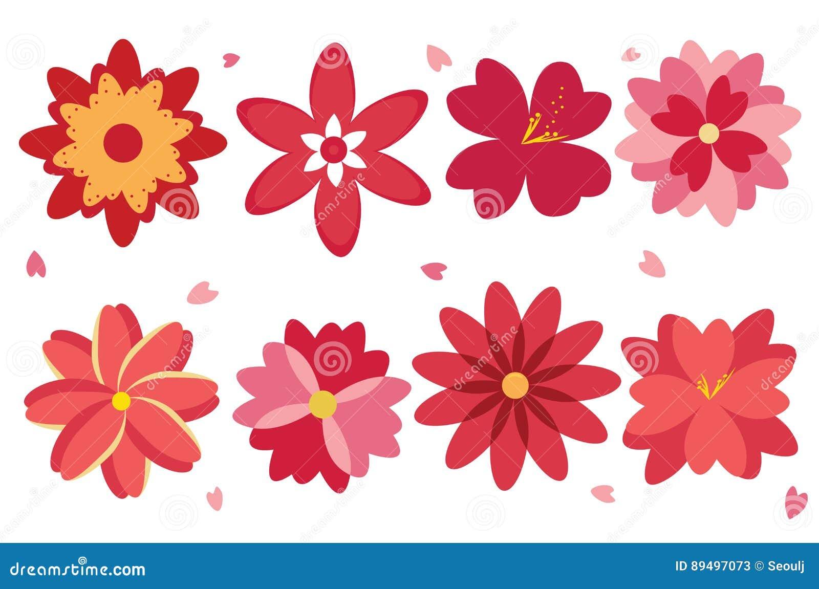 Fancy Flowers Clipart EPS Vector Stock Vector - Illustration of