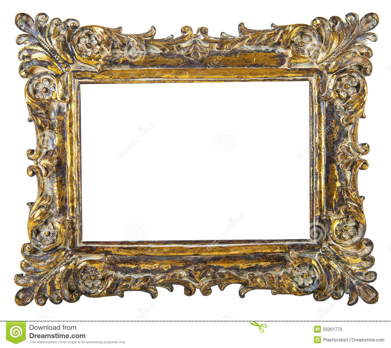 fancy gold picture frame stock photo image 50261770