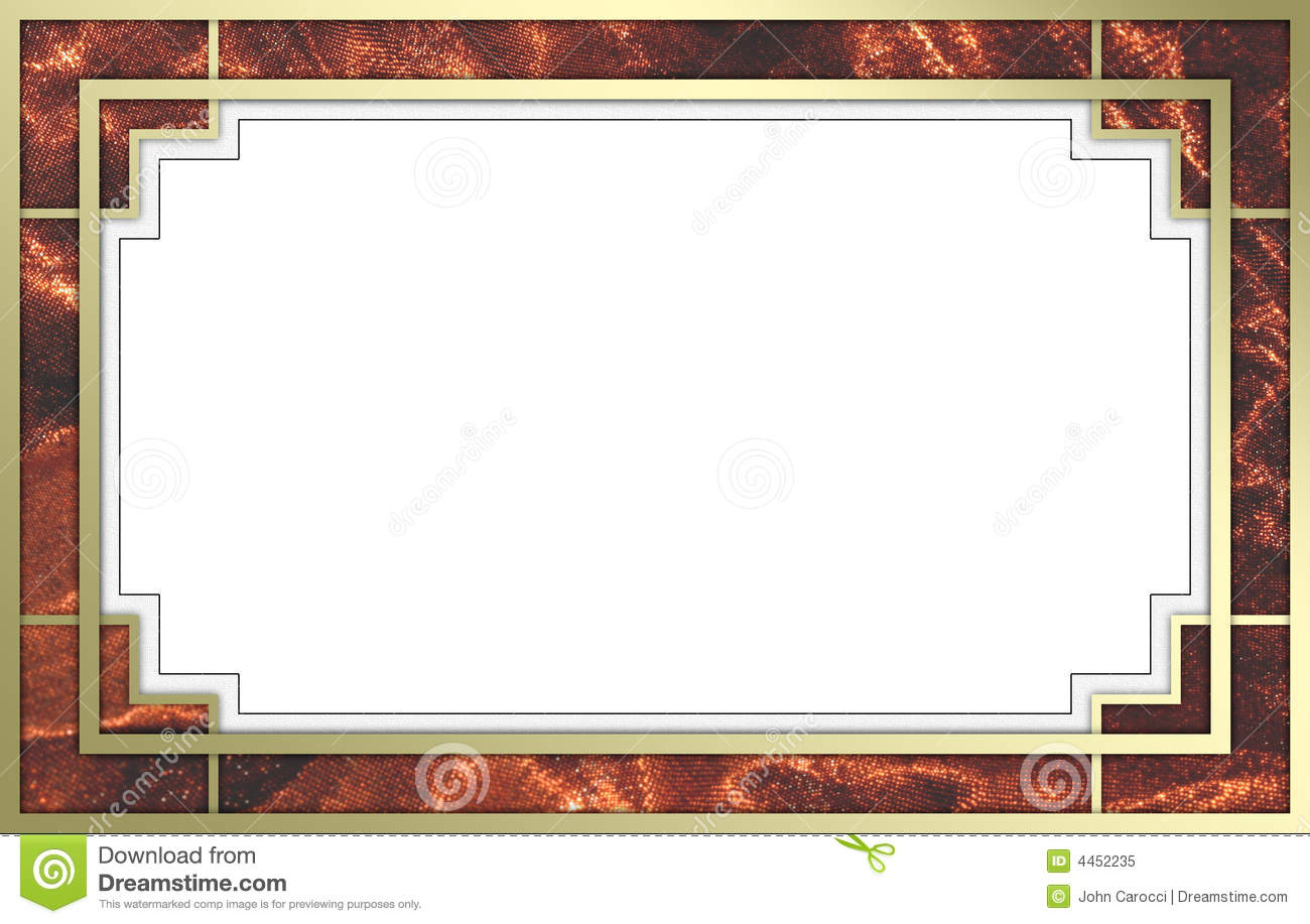 Fancy Gold And Red Picture Frame Stock Image - Image of elegant ...