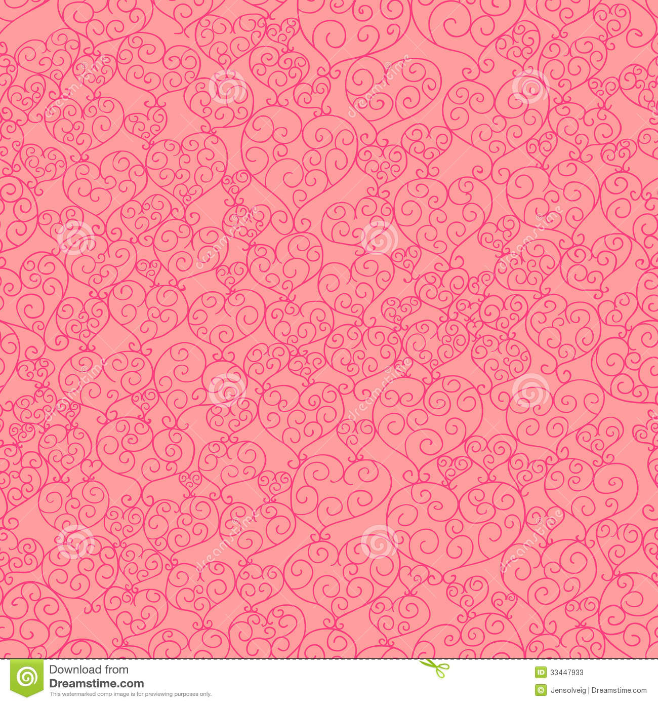 Fancy Hearts Seamless Pattern Stock Photos - Image: 33447933