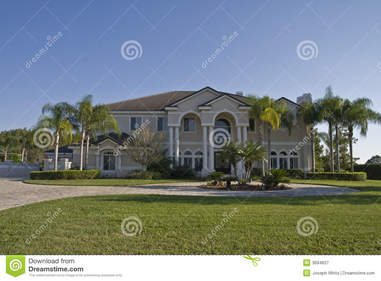Beach house plans beach home plans beach house plan - Fancy House Royalty Free Stock Photography Image 3694637