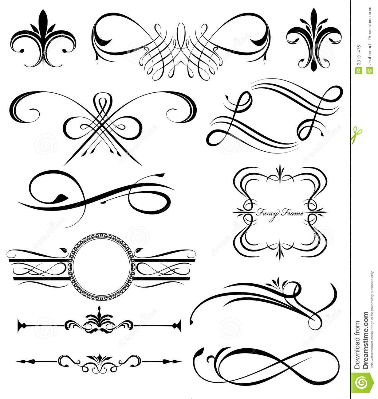 Drawing Vector Lines In Photo : Fancy lines royalty free stock image