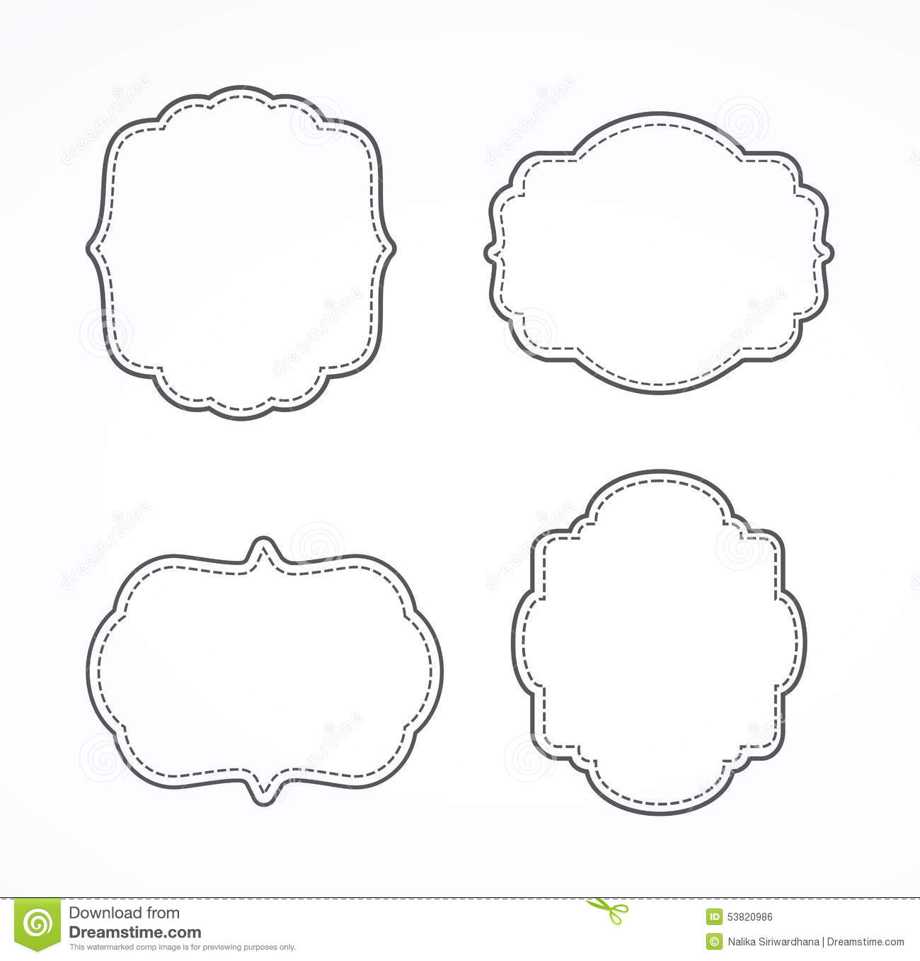 Fancy Page Border Stock Vector - Image: 53820986