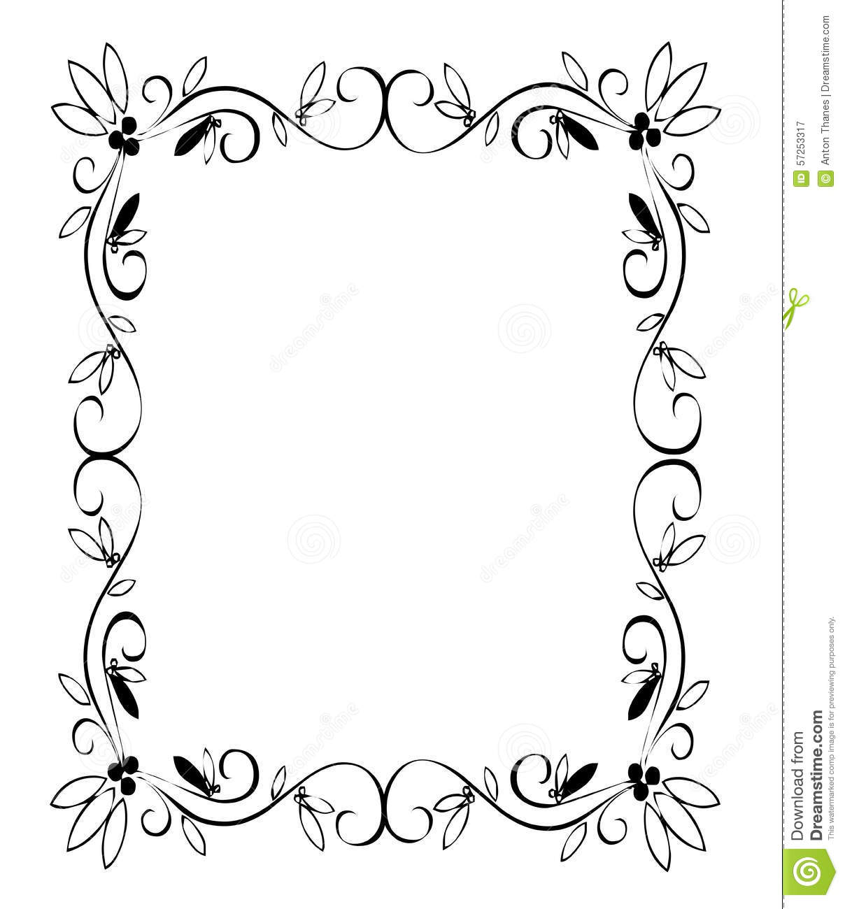 Fancy Page Border Stock Illustration - Image: 57253317