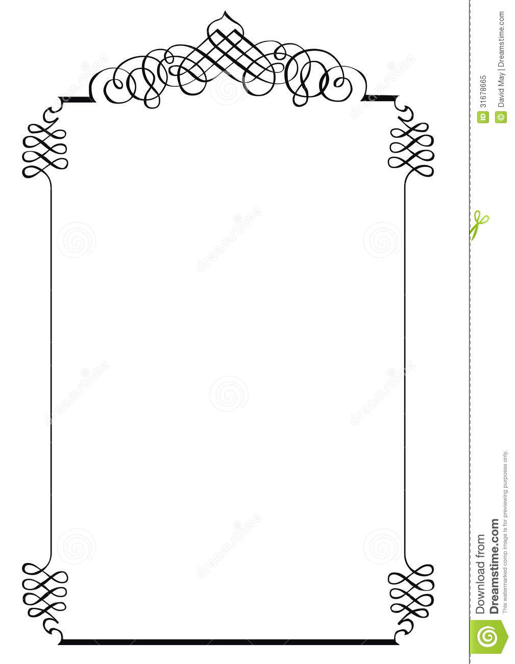 Royalty Free Stock Photo Fancy Page Border One Also Available As File Image31678665 on Swirl Border Pattern