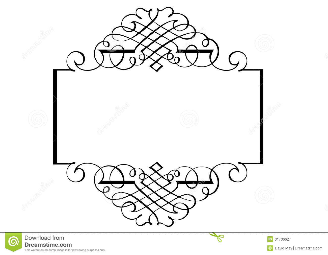 Fancy Page Border Three Stock Vector Illustration Of Computer