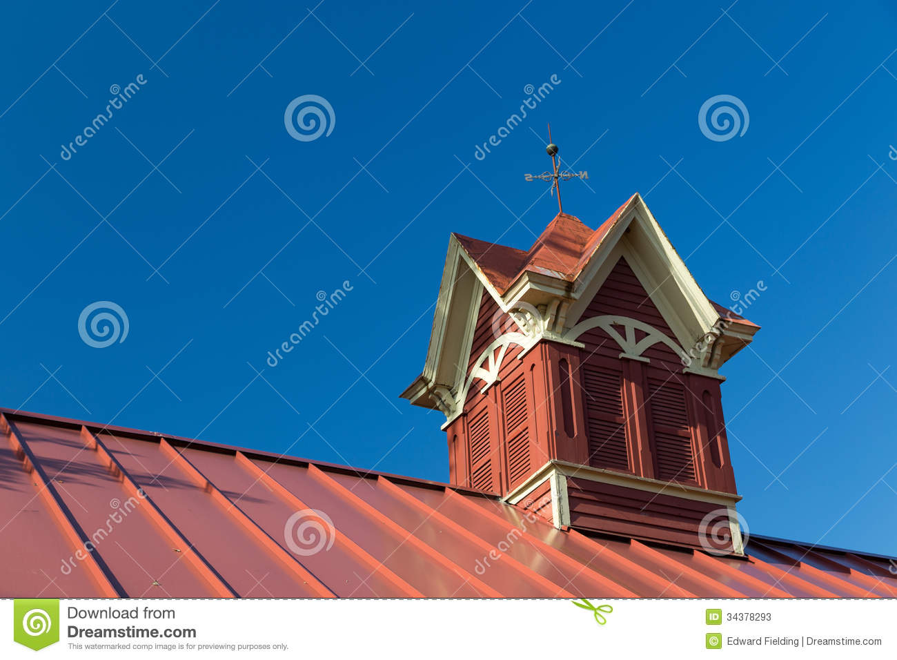 Fancy Red Barn Cupolas Stock Photos Image 34378293