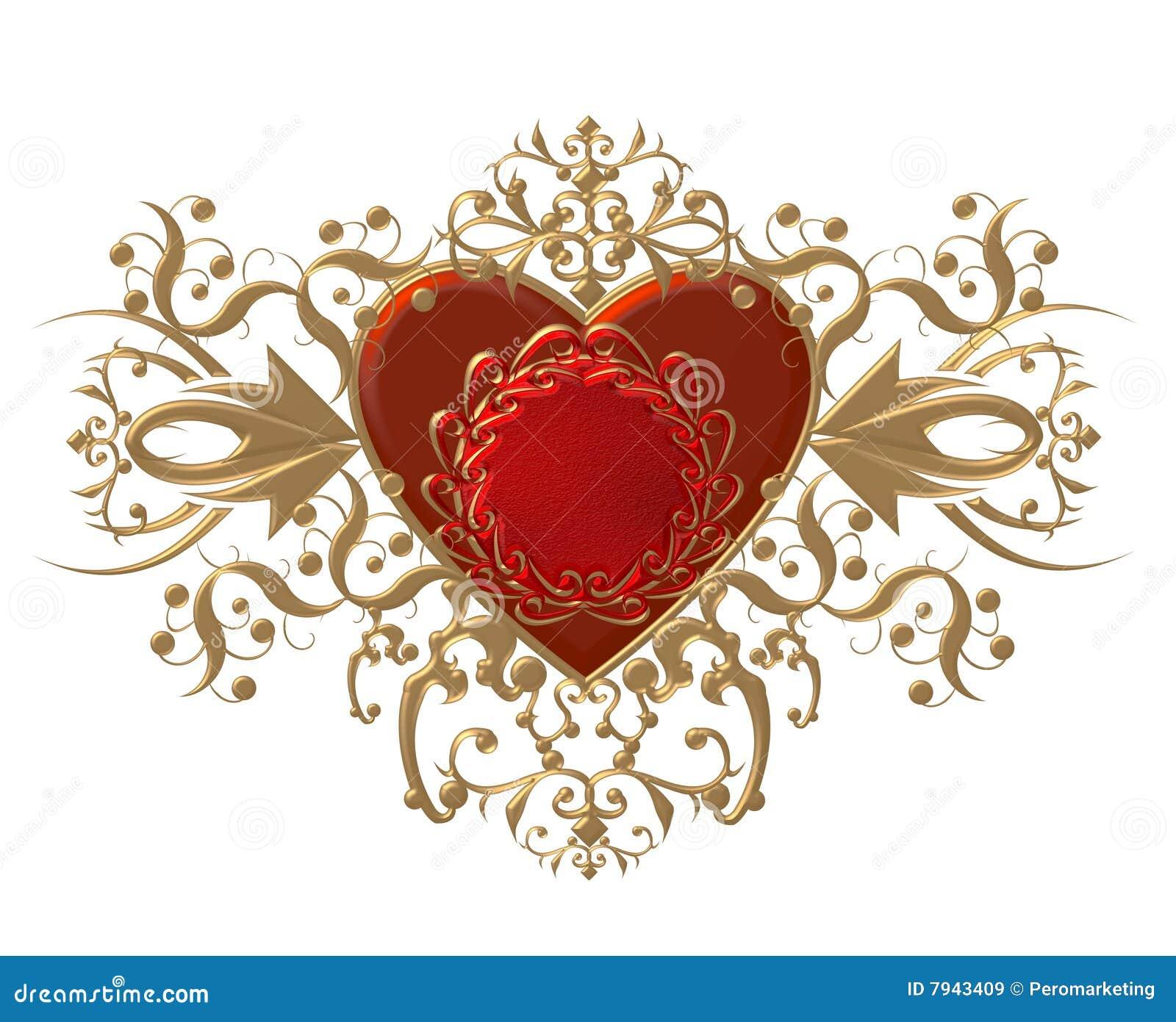 Fancy Red Heart Illustration Stock Illustration ...
