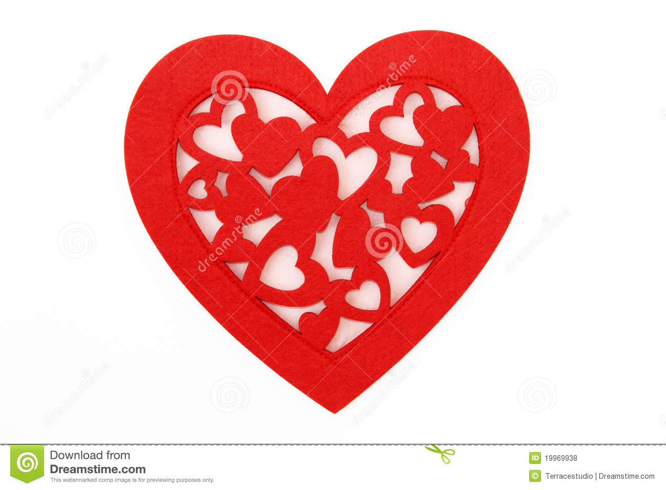 Fancy Red Heart On White Background Royalty Free Stock ...