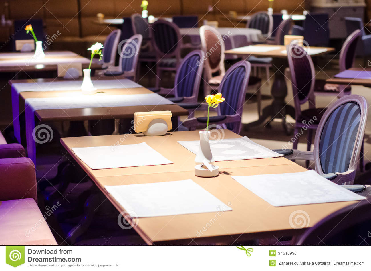 Fancy Restaurant Stock Photo Image Of Chairs Bistrot - Fancy restaurant table