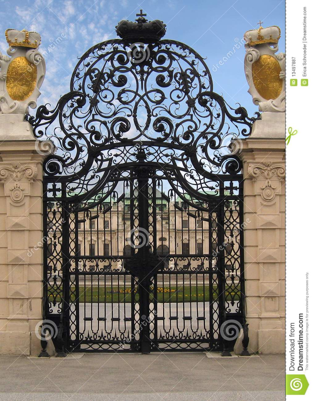 Fancy Royal Estate Gate Stock Image Image Of Ornate