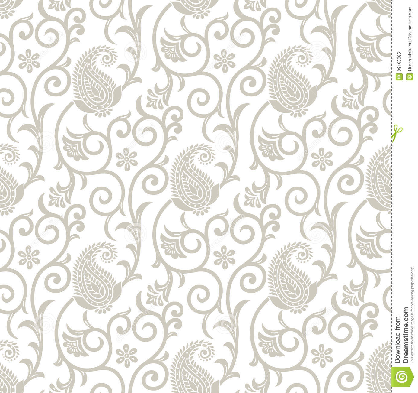 Fancy Wallpaper: Fancy Seamless Floral Background With Paisley Stock Vector