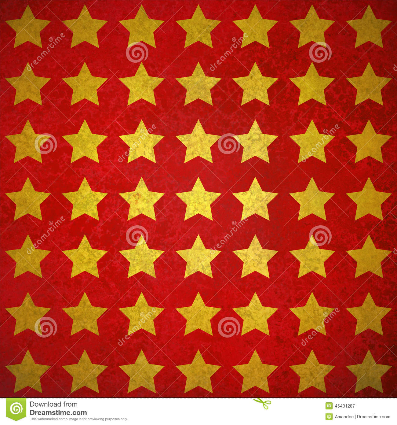 fancy shiny gold stars on textured red background design