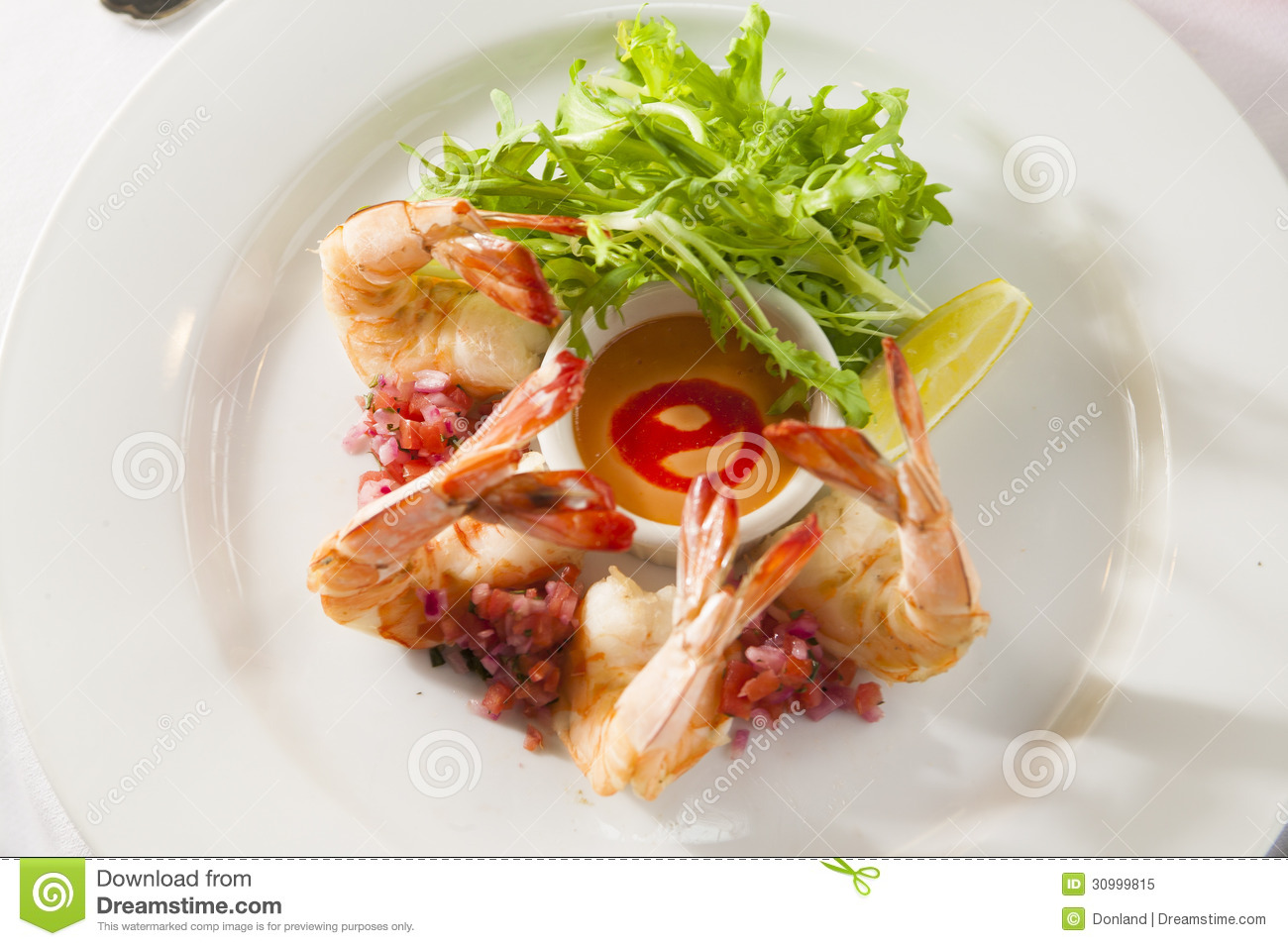 Fancy Shrimp Cocktail Appetizer Royalty Free Stock Photo  : fancy shrimp cocktail appetizer restaurant setting 30999815 from www.dreamstime.com size 1300 x 955 jpeg 278kB