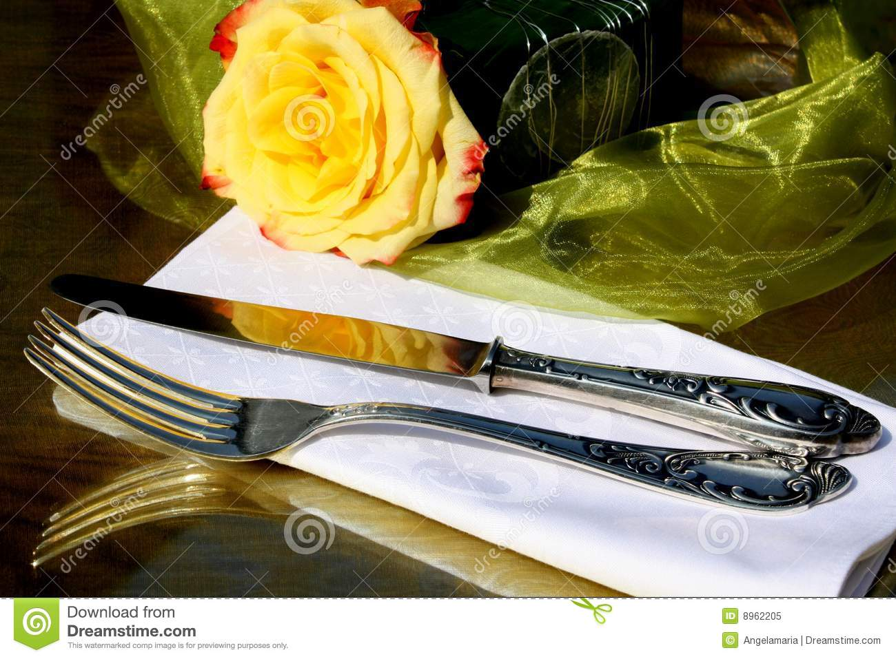 Fancy Silverware Royalty Free Stock Photo - Image: 8962205
