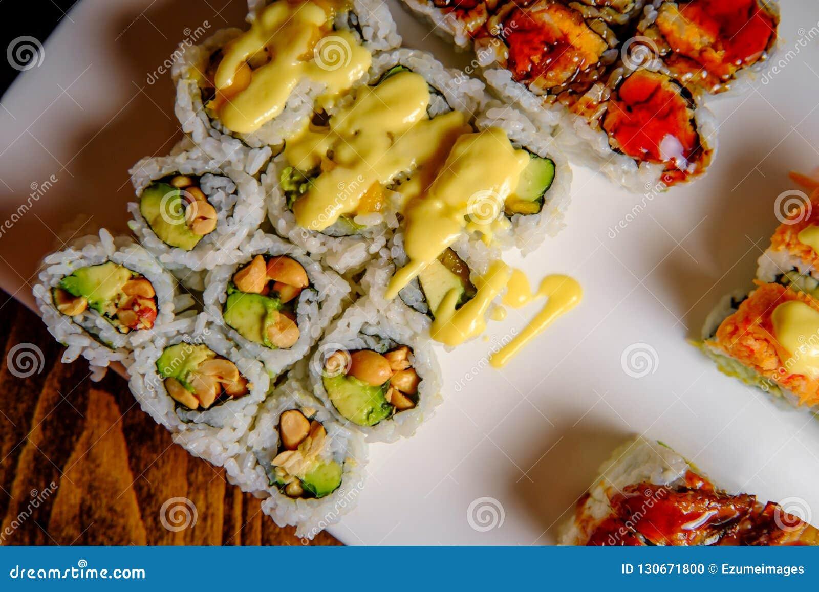 Fancy Sushi Roll Platter