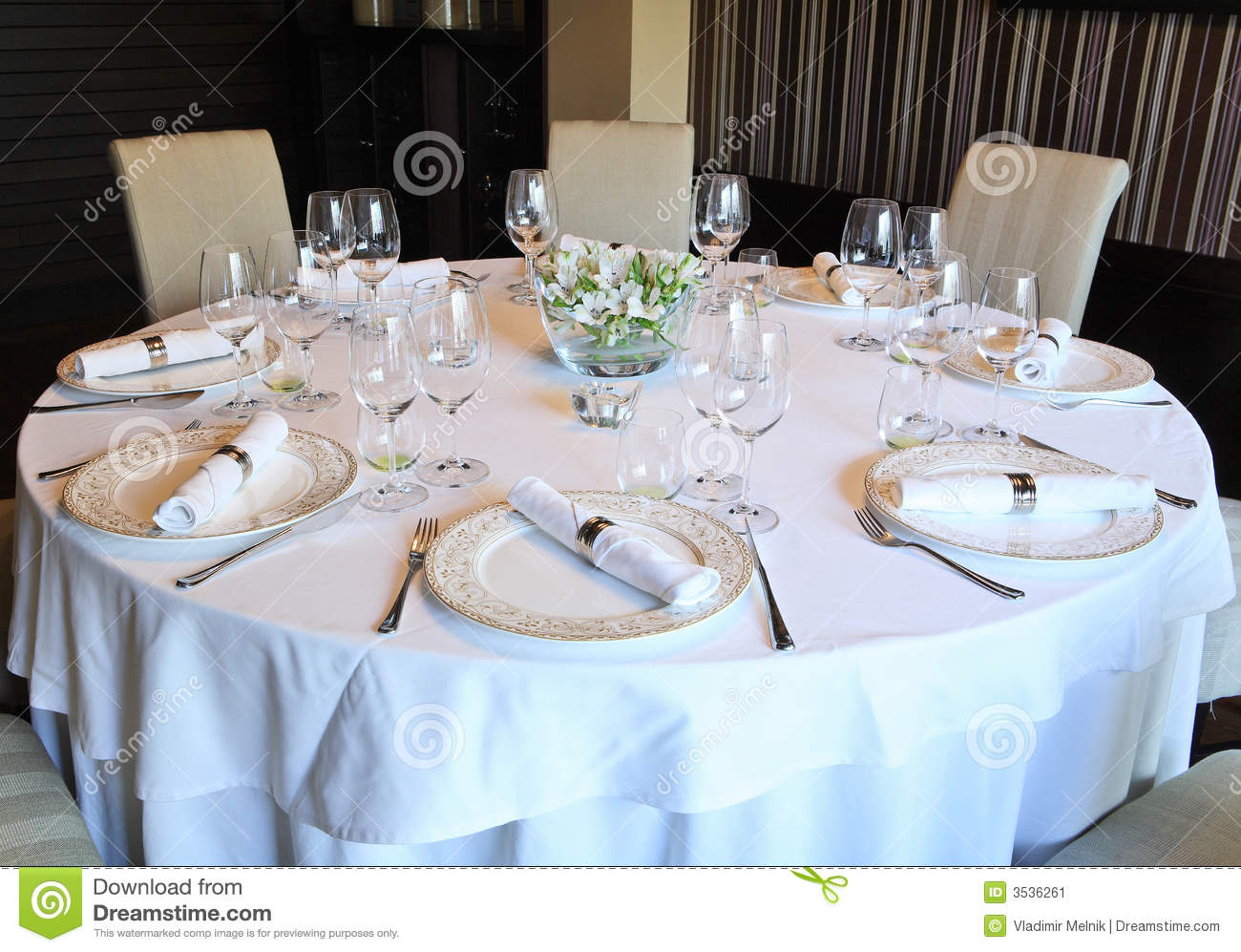 Fancy table set for a dinner stock image image 3536261 for Fancy dinner table