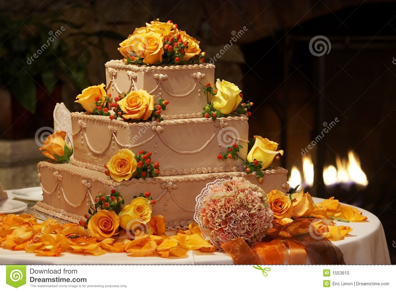 Fancy Wedding Cake Royalty Free Stock Photo Image 1553615