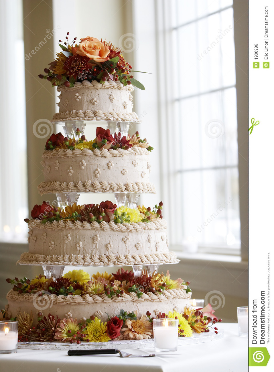 Fancy Wedding Cake Stock Photo Image Of Baked Bridal