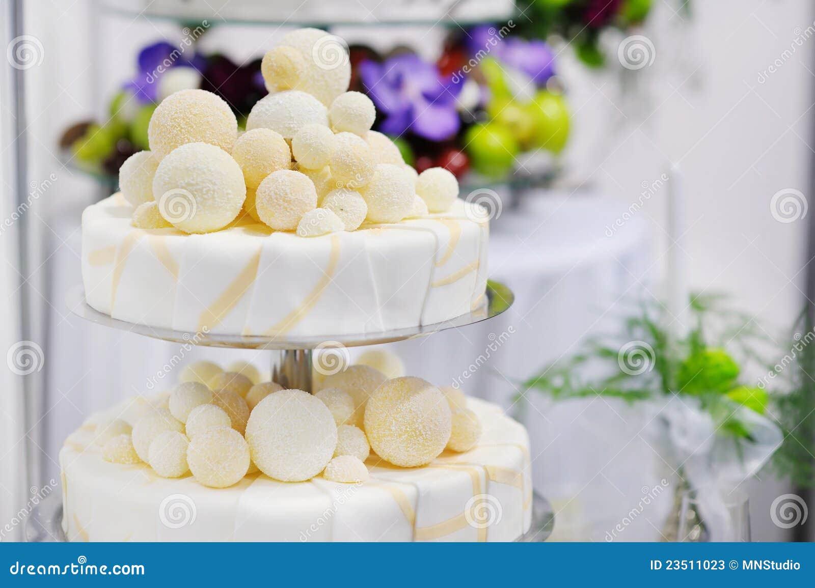 Fancy Wedding Cake Stock s Image