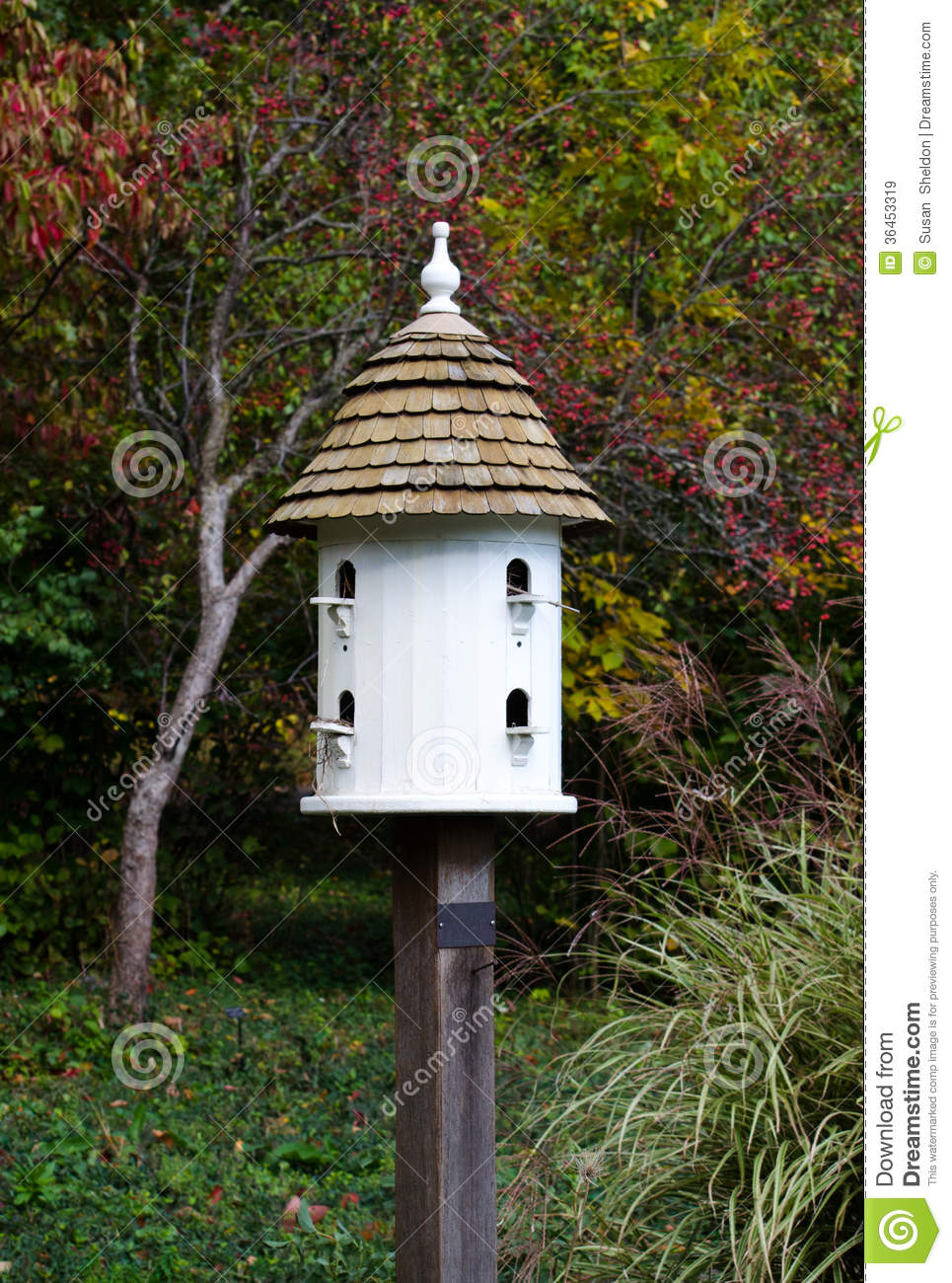 Fancy White Bird House Royalty Free Stock Images - Image ...