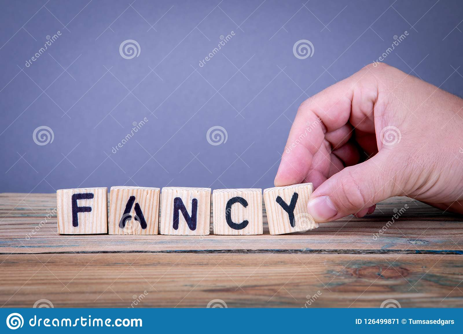 Fancy Wooden Letters On The Office Desk Stock Image Image Of