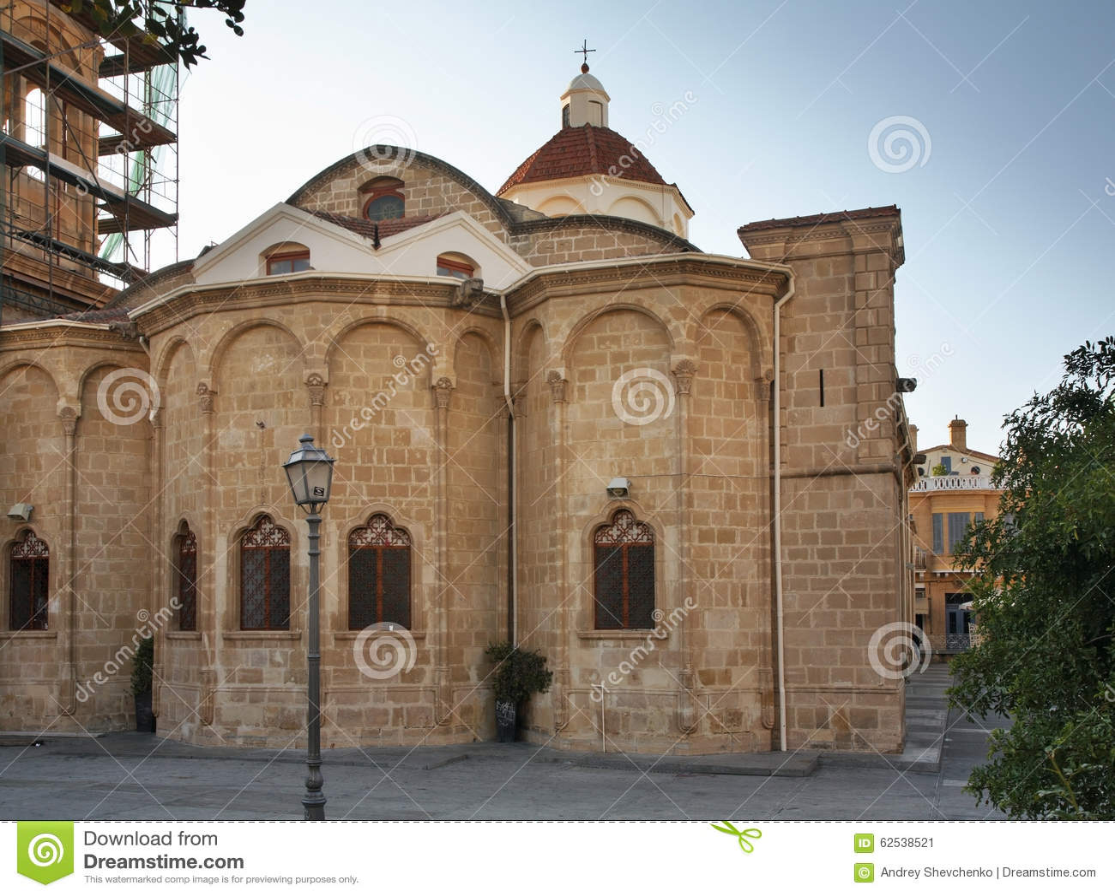 Faneromeni广场的Faneromeni教会在尼科西亚 塞浦路斯