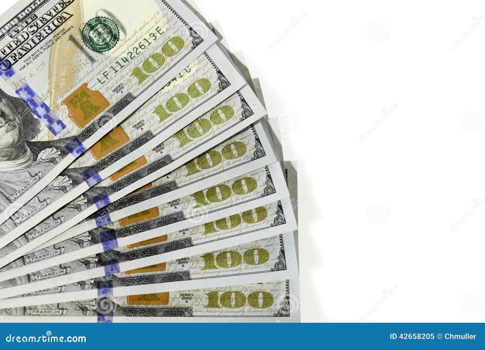 Fanned Out Hundred Dollars Bills Stock Illustration - Illustration ...
