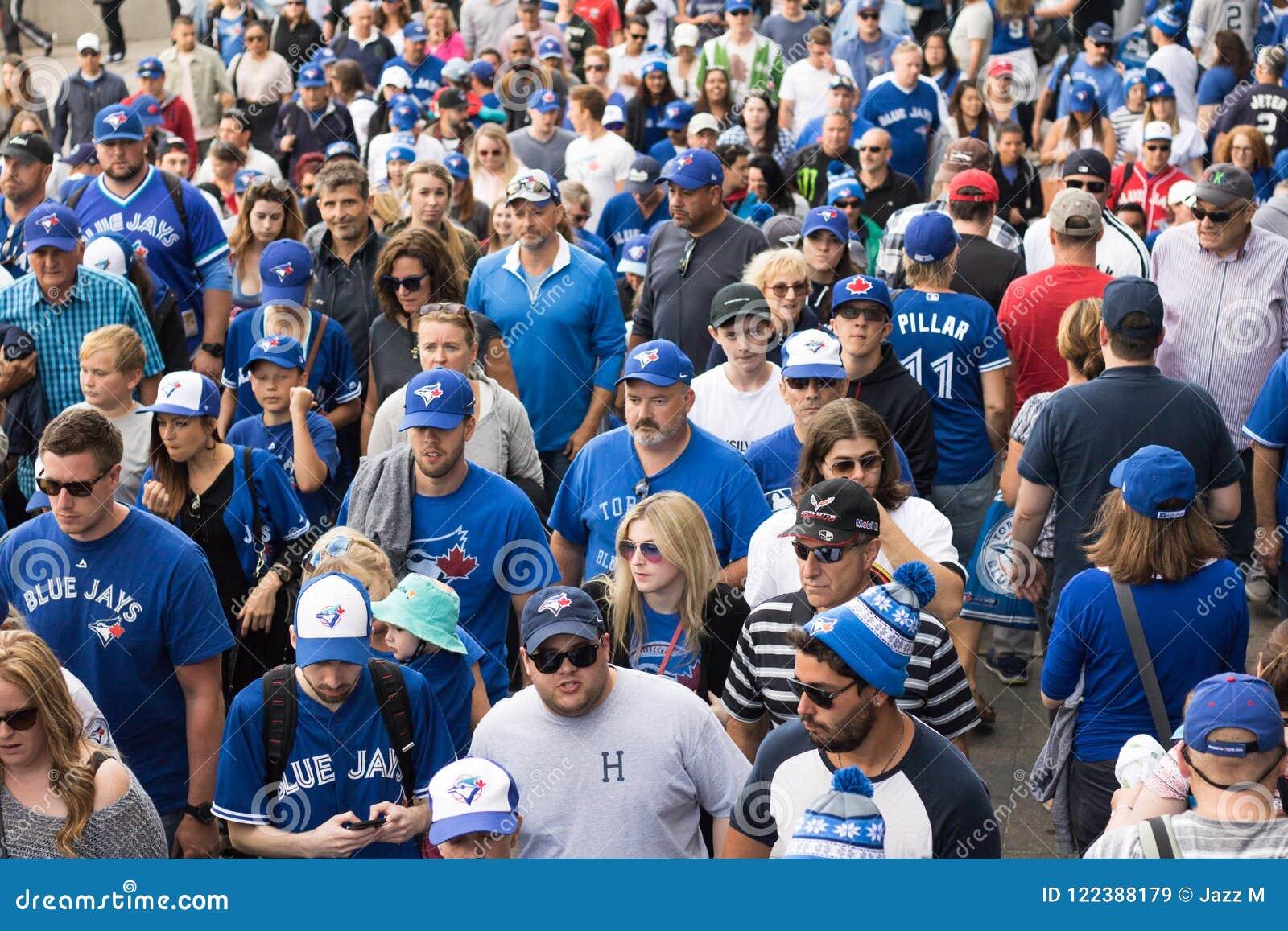 Fans de Blue Jays après victoire de Toronto