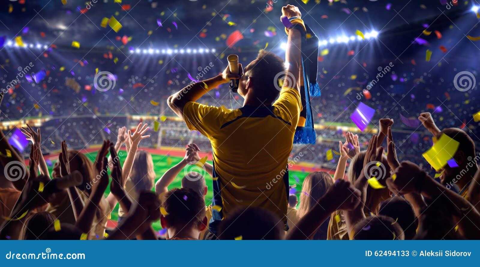 Fans on stadium game