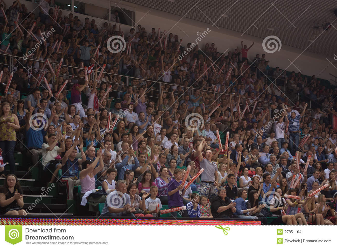 Fans on the stands