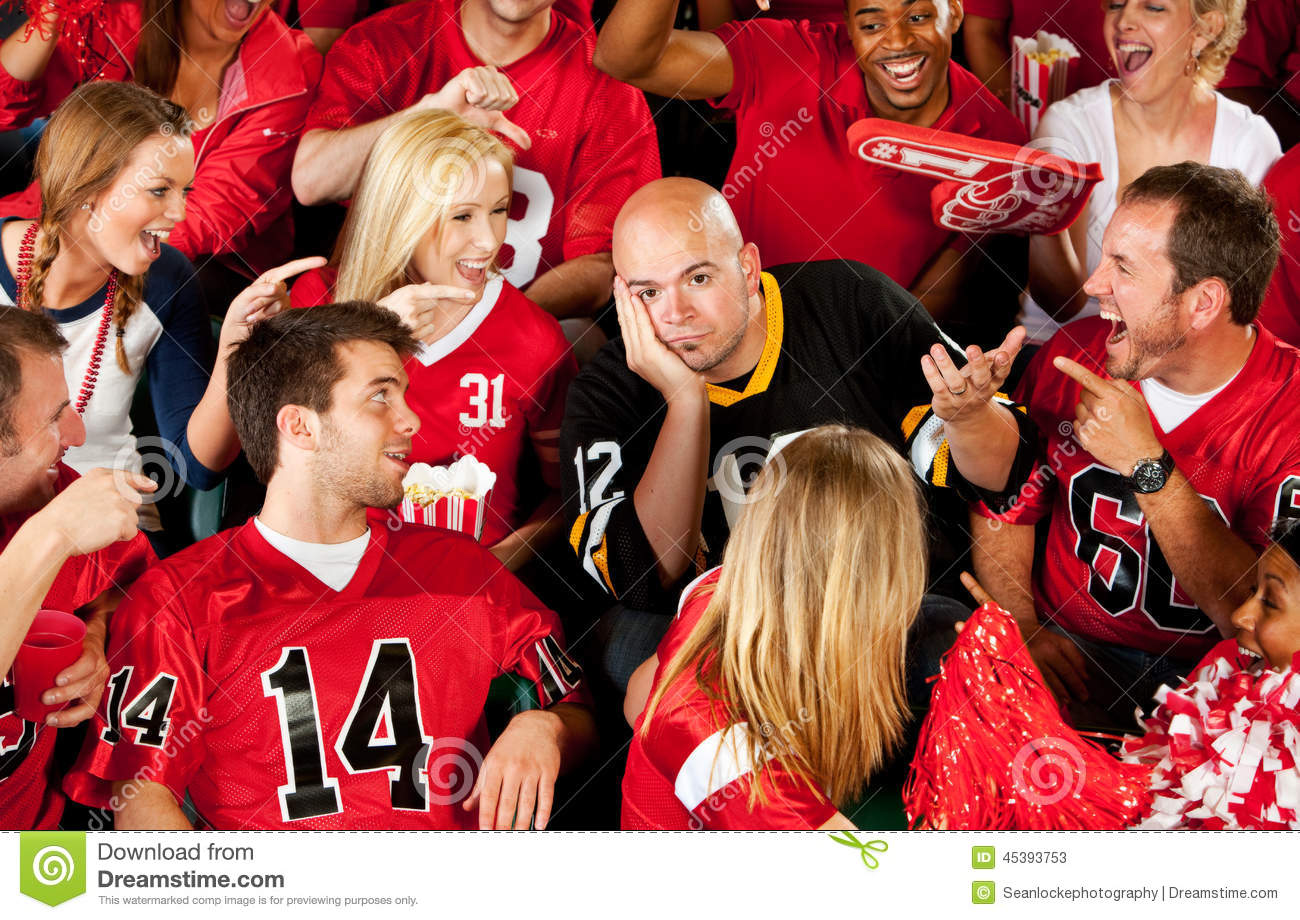Fans: Visiting Team Losing The Game Stock Photo - Image ...