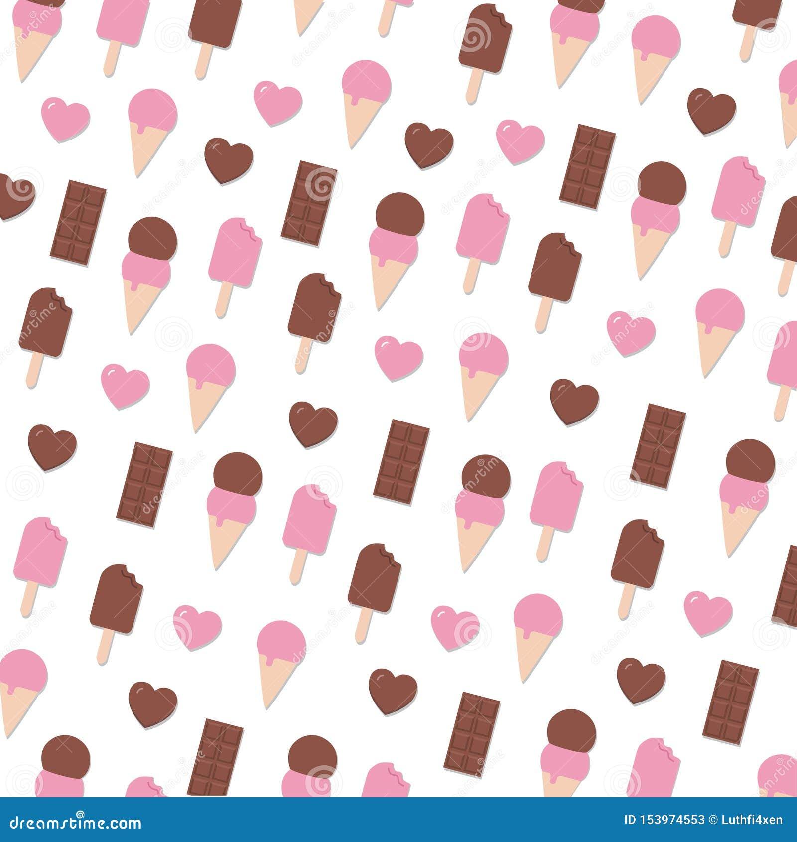 Fantaisie Valentine Day Seamless Pattern