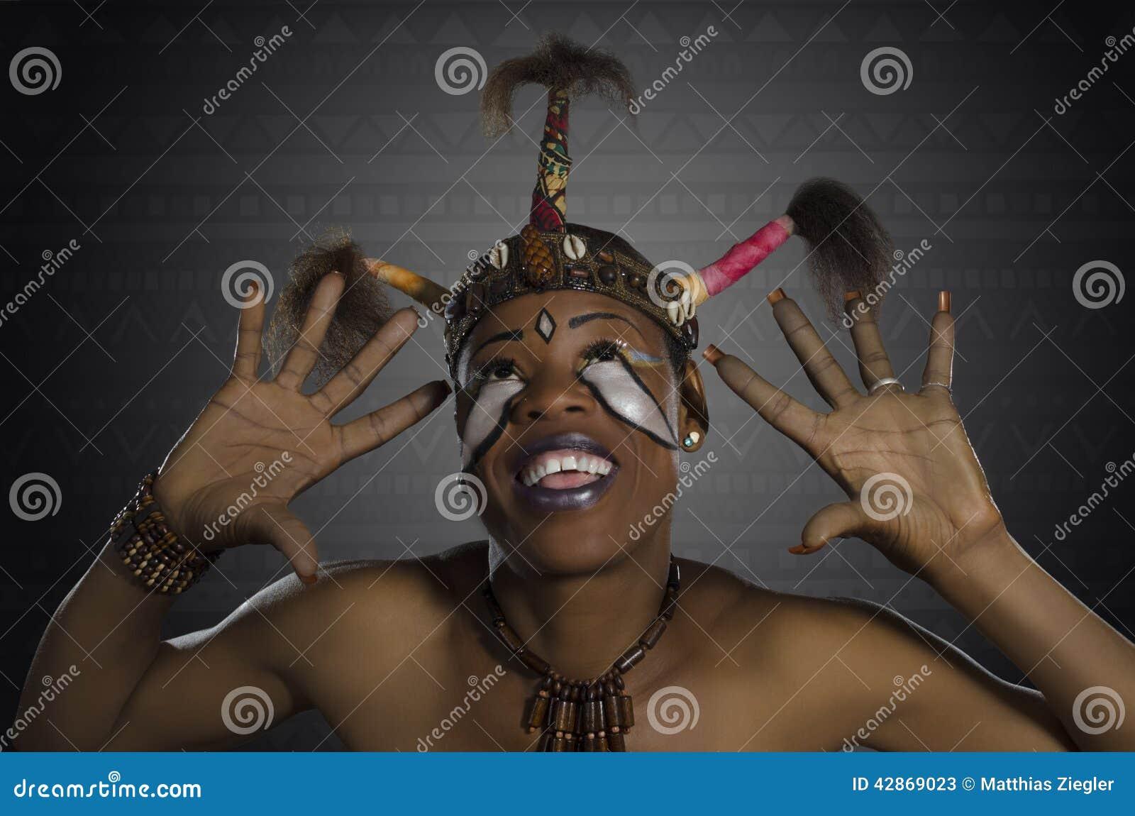 Fantasía africana de la belleza