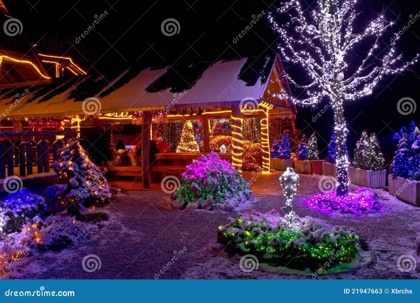 Fantas a de la navidad luces de la casa de campo y del - La casa de la navidad ...