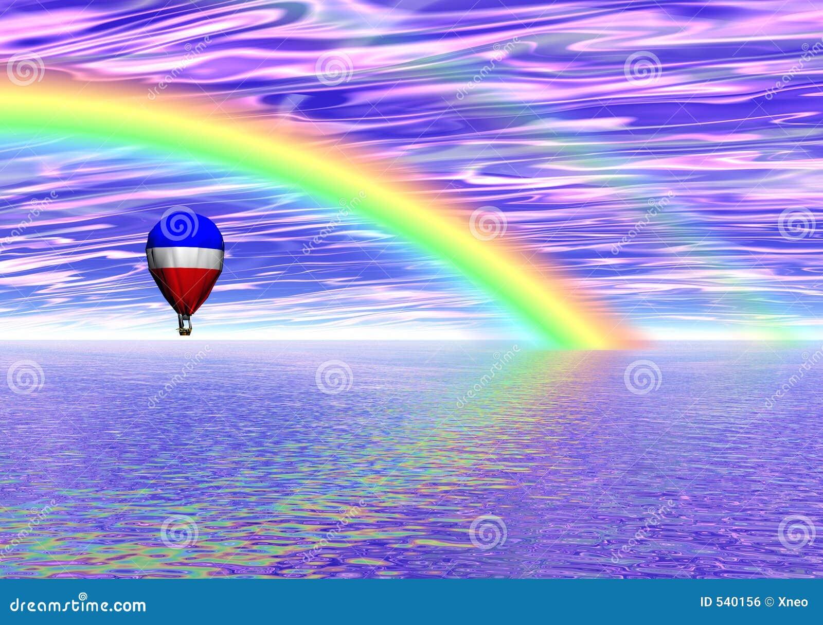 Fantasia do balão do arco-íris