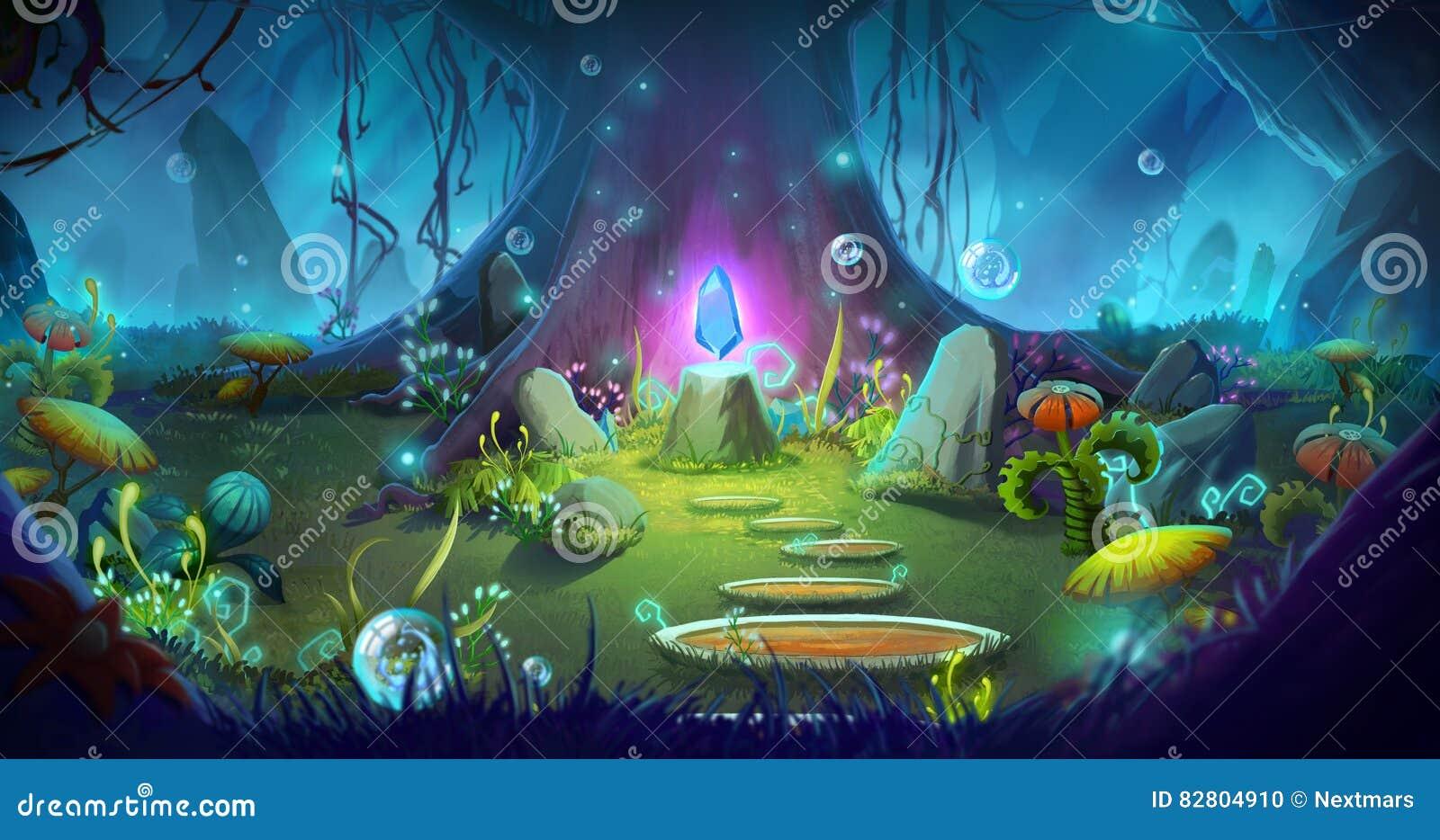 Fantasia e foresta magica